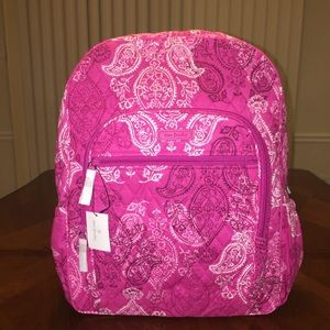 NWT Vera Bradley Campus Backpack Stamped Paisley